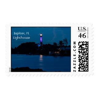 JUPITER LIGHTHOUSE SHINES BLUE postage stamp