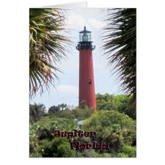 Jupiter Lighthouse through the Palms Card