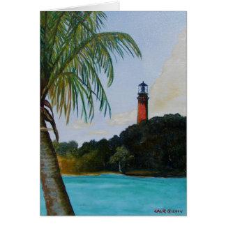Jupiter Lighthouse with Palm Card