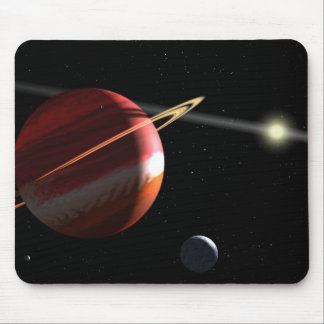 Jupiter-mass planet orbiting the nearby star Epsil Mousepad