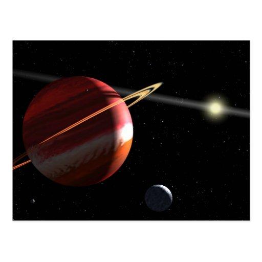 Jupiter-mass planet orbiting the nearby star Epsil Postcard