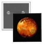 Jupiter Moon Io Space NASA Buttons