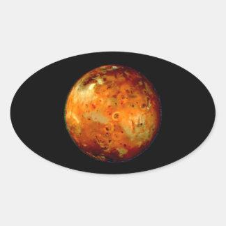 Jupiter Moon Io Space NASA Oval Sticker