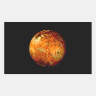 Jupiter Moon Io Space NASA Rectangular Sticker
