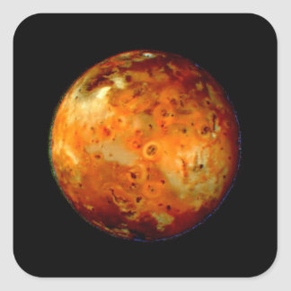 Jupiter Moon Io Space NASA Square Sticker