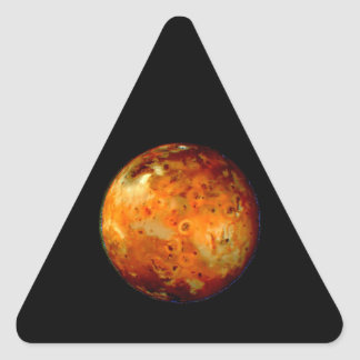 Jupiter Moon Io Space NASA Triangle Sticker