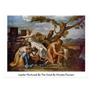Jupiter Nurtured By The Goat By Nicolas Poussin Postcard