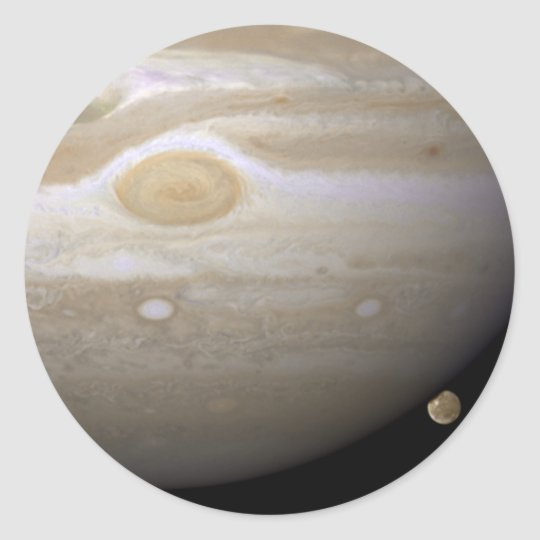 Jupiter occults Ganymede Classic Round Sticker