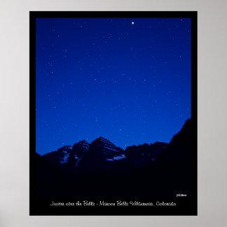 Jupiter over the Bells Poster