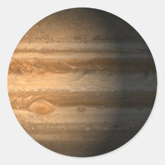 Júpiter Pegatina Redonda