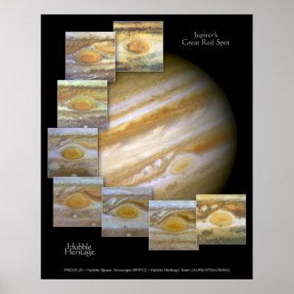 Jupiter Red Spot Hubble Telescope Photo Poster