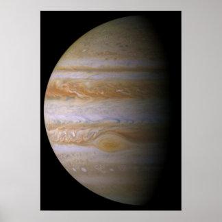 Júpiter según lo visto por la punta de prueba de e póster