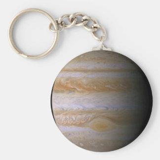 Júpiter según lo visto por la punta de prueba de llavero redondo tipo pin