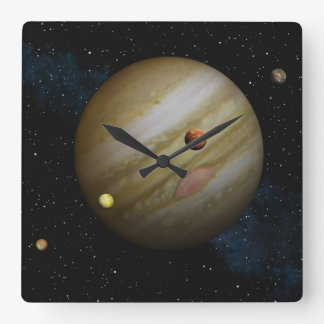 Jupiter Square Wall Clock