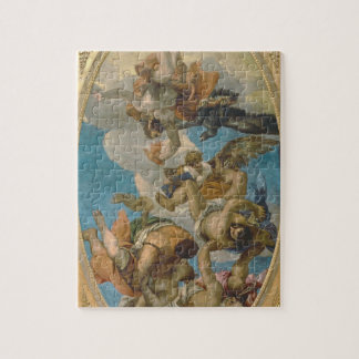 Jupiter Striking Down the Vices (oil on canvas) Jigsaw Puzzle