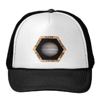Jupiter through a Window - light clothing Trucker Hats