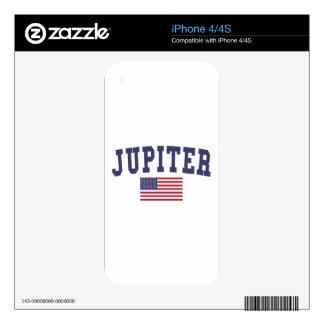 Jupiter US Flag iPhone 4 Decals