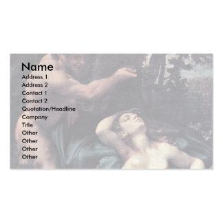 Júpiter y Antiope por Correggio Plantilla De Tarjeta De Negocio