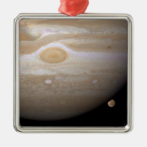 Júpiter y Ganymede Adorno Cuadrado Plateado