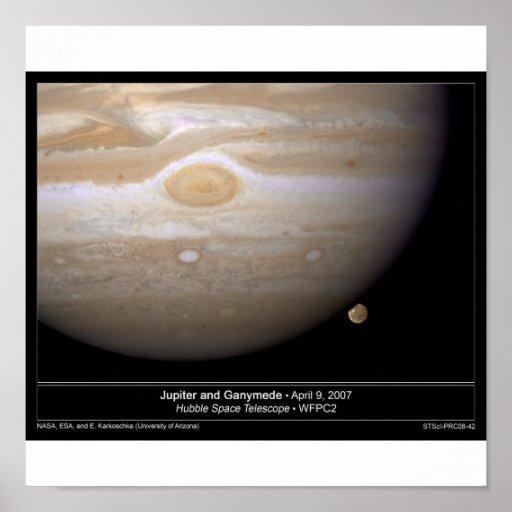 Júpiter y Ganymede Póster