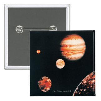 Júpiter y los satélites galileos pins