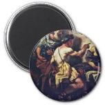 Júpiter y Mercury con Philemon y Baucis por Lo Imán Para Frigorífico