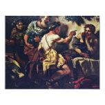 Júpiter y Mercury con Philemon y Baucis por Lo Invitación 10,8 X 13,9 Cm