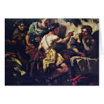 Júpiter y Mercury con Philemon y Baucis por Lo Tarjeton