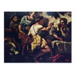 Júpiter y Mercury con Philemon y Baucis por Lo Tarjeta Postal