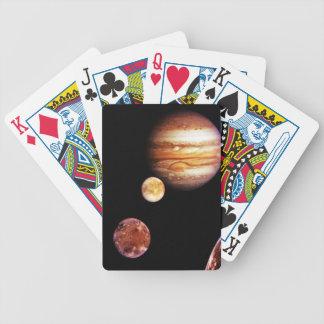 Júpiter y sus lunas baraja cartas de poker