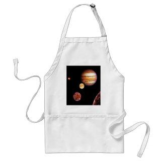 Júpiter y sus lunas delantal
