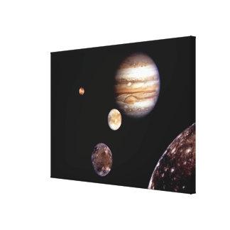 Júpiter y sus lunas impresión en lona