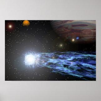 Jupiter's Comet Poster