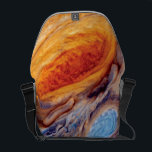 """Jupiter&#39;s Great Red Spot - NASA Voyager Photo Messenger Bag<br><div class=""""desc"""">The red spot of Jupiter shown in closeup detail,  with swirling orange and blues that resemble a tie dye psychedelic Van Gogh painting.</div>"""
