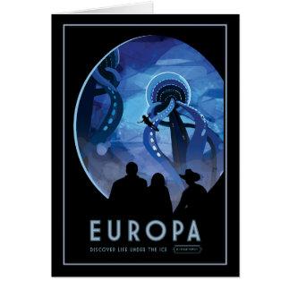 Jupiters Moon Europa Sci-fi Travel Illustration Card