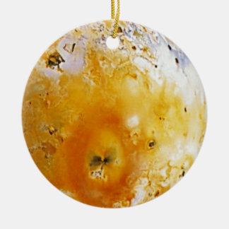 Jupiter's Moon Io Ceramic Ornament