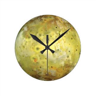 Jupiter's Moon Io Round Clock