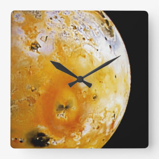 Jupiter's Moon Io Square Wall Clock