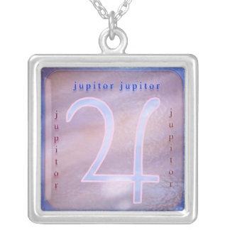 Jupitor Zodiac Symbol Silver Plated Necklace