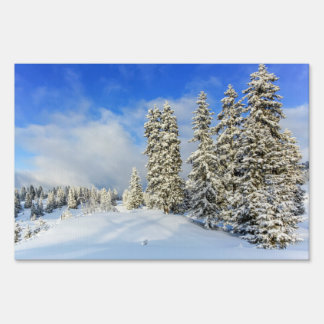 Jura mountain in winter, Switzerland Yard Sign