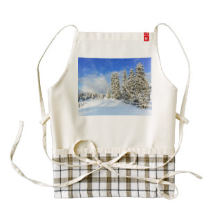 Jura mountain in winter, Switzerland Zazzle HEART Apron
