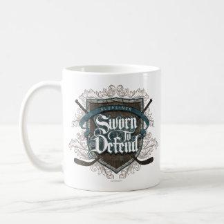Jurado para defender (defensa del hockey) taza de café