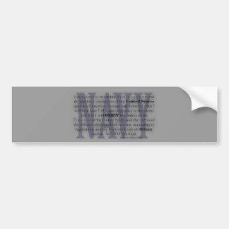 juramento de la marina de guerra pegatina para auto