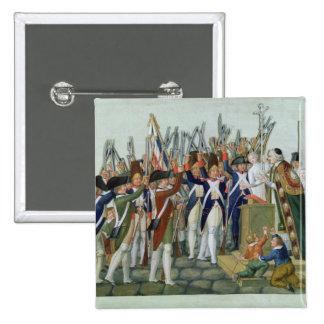 Juramento de los distritos, febrero de 1790 pin cuadrado
