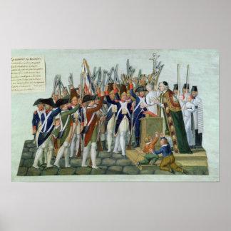 Juramento de los distritos, febrero de 1790 póster