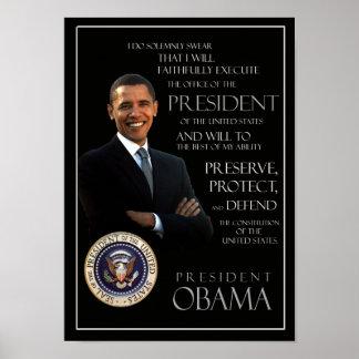 Juramento de toma de posesión de Obama Póster
