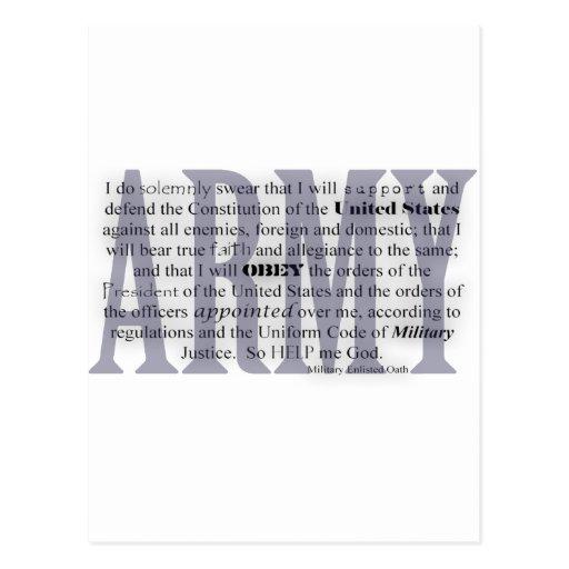 juramento del ejército postal