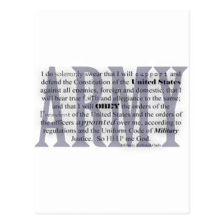 juramento del ejército tarjeta postal