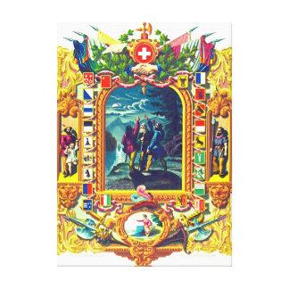 Juramento del Grutli 1307 Impresión De Lienzo