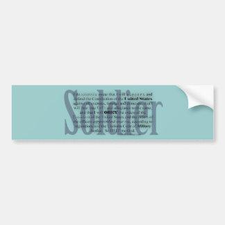 juramento del soldado pegatina para auto